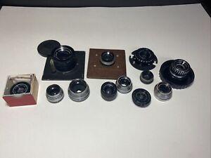 Vintage Lens Lot Enlarging Wollensak Schneider Aetna Coligar Macro Actinar