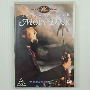 Moby Dick DVD - Gregory Peck - Region 4 - TRACKED POST