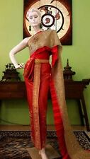 THAI WEDDING DRESS TRADITIONAL LORDLY PRINCESS GOWN HAND NICE THAILAND PL08