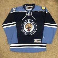Reebok Florida Panthers NHL Hockey Jersey Navy Blue Alternate Third 3rd Small S