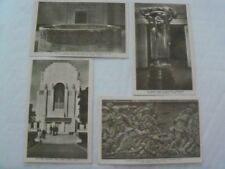 Lot of 4 1930s Rppc Postcards Anzac Memorial Limbless Soldiers Sydney Australia