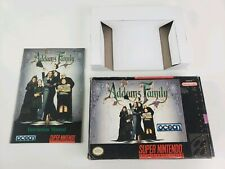 The Addams Family Super Nintendo SNES Box and Manual only ! No game