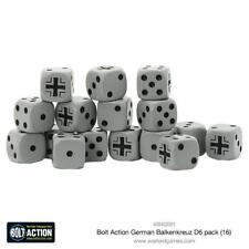 BOLT ACTION GERMAN BALKENKRUEZ D6 PACK  -  WW2 - SENT FIRST CLASS - DICE