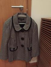 I*N*S*I*G*H*T Women's Jacket, Black & White, Acrylic/Wool, Size 6