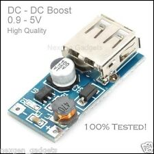 DC 0.9 - 5V , 3V To 5V USB Charger Step Up Module Mini DC-DC Boost Converter