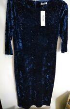 KDK LONDON blue velour sparkly dress size 16 bnwt CL22