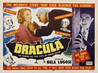 1931 DRACULA WITH BELA LUGOSI VINTAGE HORROR MOVIE POSTER PRINT 27x36 STYLE B