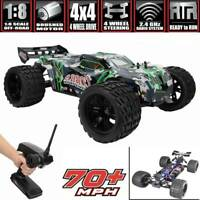 New VRX Racing 1/8 RC Car 4WD Brushless Monster Truck 80km/h Rally Vehicle RTR