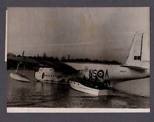 SHORT SUNDERLAND FLYING BOAT BERLIN AIRLIFT 1948 LARGE ORIGINAL PRESS PHOTO RAF