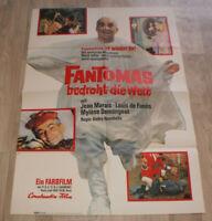 A1 Filmplakat    FANTOMAS BEDROHT DIE WELT, LOUIS DE FUNES