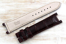 Cartier Strap Made in France Croco Bordeaux Veritable Pasha 20mm Glossy Band New
