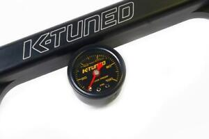K-Tuned Shock Proof Fuel Pressure Gauge Marshall 0-100 psi Black UNIVERSAL New