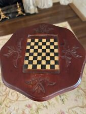 Vintage Miniature Dollhouse Artisan Victorian Parlor Game Table Cherry Wood 1:12