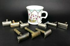 Vintage Lot of 9 Double Edge Razors Gillette Ever-ready & ASRC Adjustable & Mug