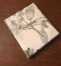 Envogue Shower Curtain Floral Grey Gray Silver Charcoal Flower White En Vogue