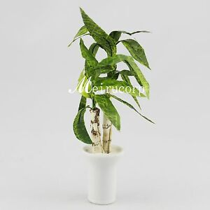 miniature green plant for 1/12 scale dollhouse furniture decoration