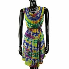Tie dye top dress hippie boho tie-dye floaty one size fits all 3 colours