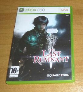 Jeu de role XBOX 360 - The last remnant Square Enix (Complet)