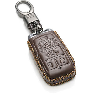 Vitodeco 6-Button Leather Smart Key Fob Case Cover for 2019 - 2021 RAM 1500