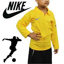 2017 Nike Harlequin Kids Long Sleeve Football Rugby Style Shirt T-shirt Polo Yellow M - 10-12 Years Old
