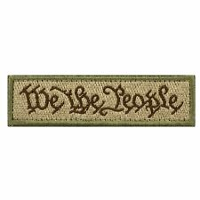 We The People New Swat Military Tactical Patch Tape Army Morale Badge Soil New