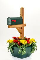 SnapPot mailbox post planter-Forest Green sign tent deck post small tree pot