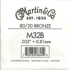 Martin & Co. - M32B - Corde à l'unité pour guitare acoustique - Bronze