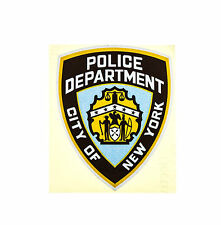 Voiture reflex réflecteur autocollant reflective sticker new york police Laminated