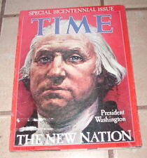 TIME MAGAZINE SPECIAL BICENTENIAL EDITION SEPT 26, 1789 GOOD CND FROM 1976