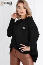 Pullover Langarm Farbe schwarz Größe One Size Damen Frauen Mädchen