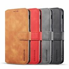 DG.MING Vintage Classical Faux Leather Wallet Flip Cell Phone Cases Cover Back