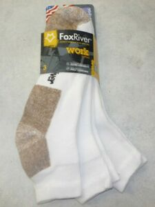 Fox River Work Value Pack Quarter Socks, Fox River 6528, 3 pair, USA White XL