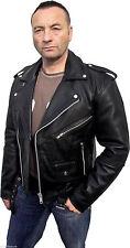 Herrenjacken & -mäntel im Bikerjacken-Stil aus Leder mit normaler Größe