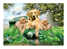 TUFTOP Summer Days Labrador Dogs Worktop Saver Chopping Board Protector 40x30cm