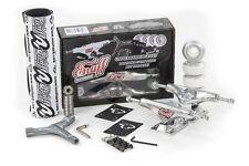 Enuff Décennie Pro Roulettes Skateboard Kit Brut Argent Grip/Roues/Roulement/