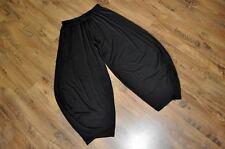Designer Lagenlook Waterfall Pants Jersey Black Gr.4 56,58, 60 / XXXXL, XXXXXL