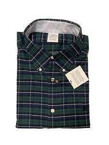 Brooks Brothers Regent Mens Plaid Button Front L/S Shirt XL MSRP $89.50