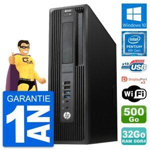 PC HP WorkStation Z240 SFF Intel G4400 RAM 32Go Disque 500Go Windows 10 Wifi