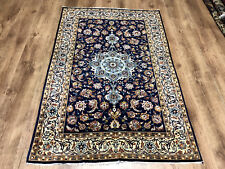 Feiner Perser Teppich Korkwolle auf Seide Isfahan 162 x 100 Traumhafte Qualität