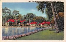 Vintage Postcard Beautiful Mammoth Silver Springs Ocala Florida Unused Linen