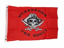 Pirate Surrender The Booty Flag 3 X 5 3X5 Feet New Polyester 2 Grommets