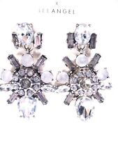 LEE by Lee Angel Opal Crystal Burst Cluster Earrings NWT $70