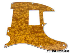 *NEW Gold Pearloid HUMBUCKER Telecaster PICKGUARD for USA Fender Tele 8 Hole