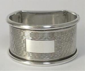 Vintage Hallmarked Sterling Silver Napkin Ring (not inscribed) – 1961