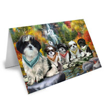 Scenic Waterfall Greeting Cards with Dog cat pet Photos,invitation card