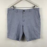Ermenegildo Zegna Mens Shorts Size 2XL W38 Blue Stripe