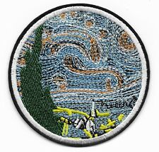 Van Gogh Starry Night embroidered iron or sew on patch