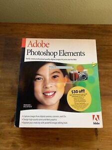 Adobe Photoshop Elements CD in box w/Serial #  PSE 1.0, MLP, RET, UE 389255