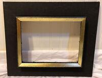Vintage Unique Black Wood Picture Frame Art Painting Frame Gilded Canvas