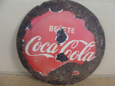 Insegna smaltata Coca Cola old vintage sign